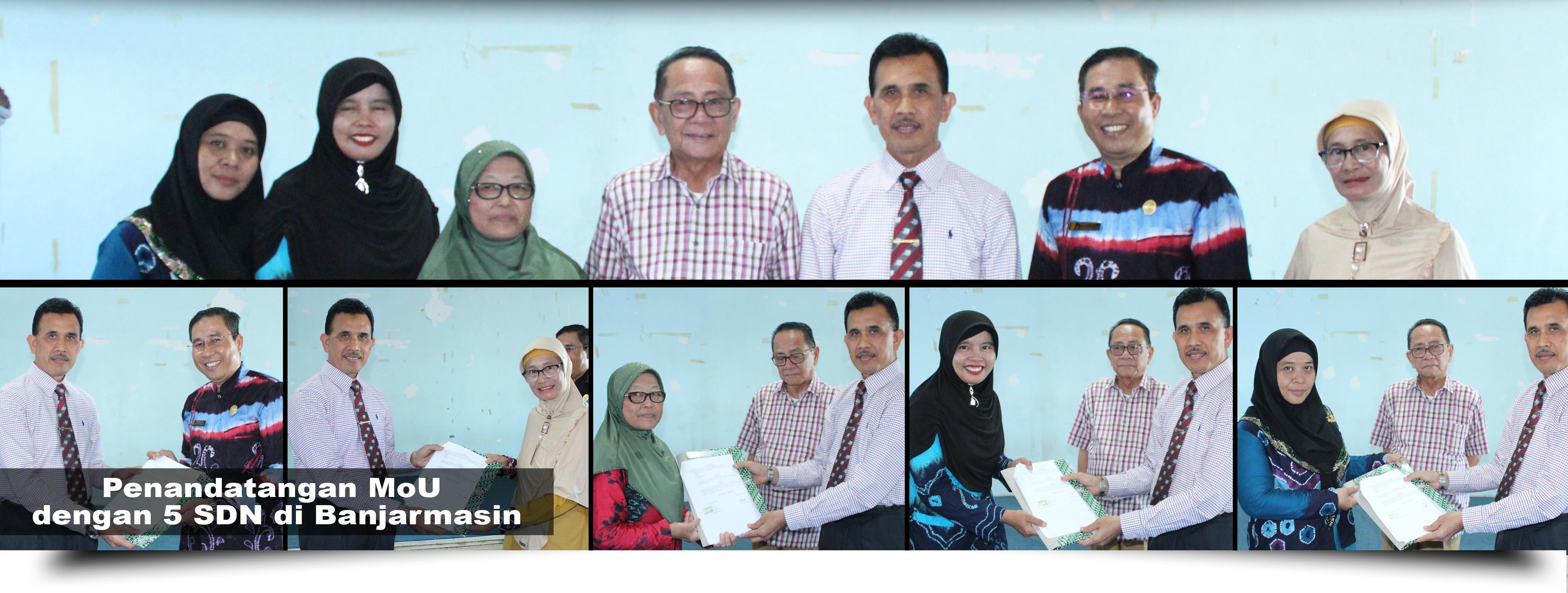 Penandatanganan MoU Antara STKIP PGRI Banjarmasin dengan 5 Sekolah Dasar di Banjarmasin
