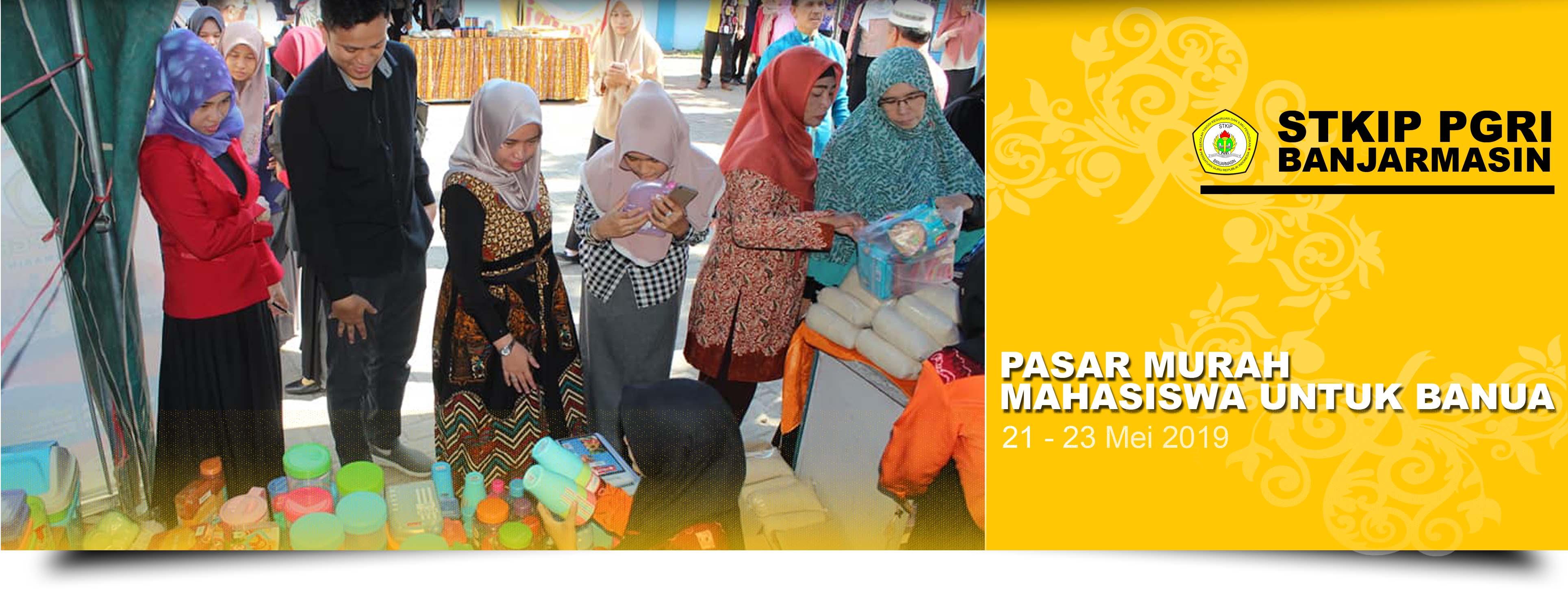 Pasar murah mahasiswa untuk Banua