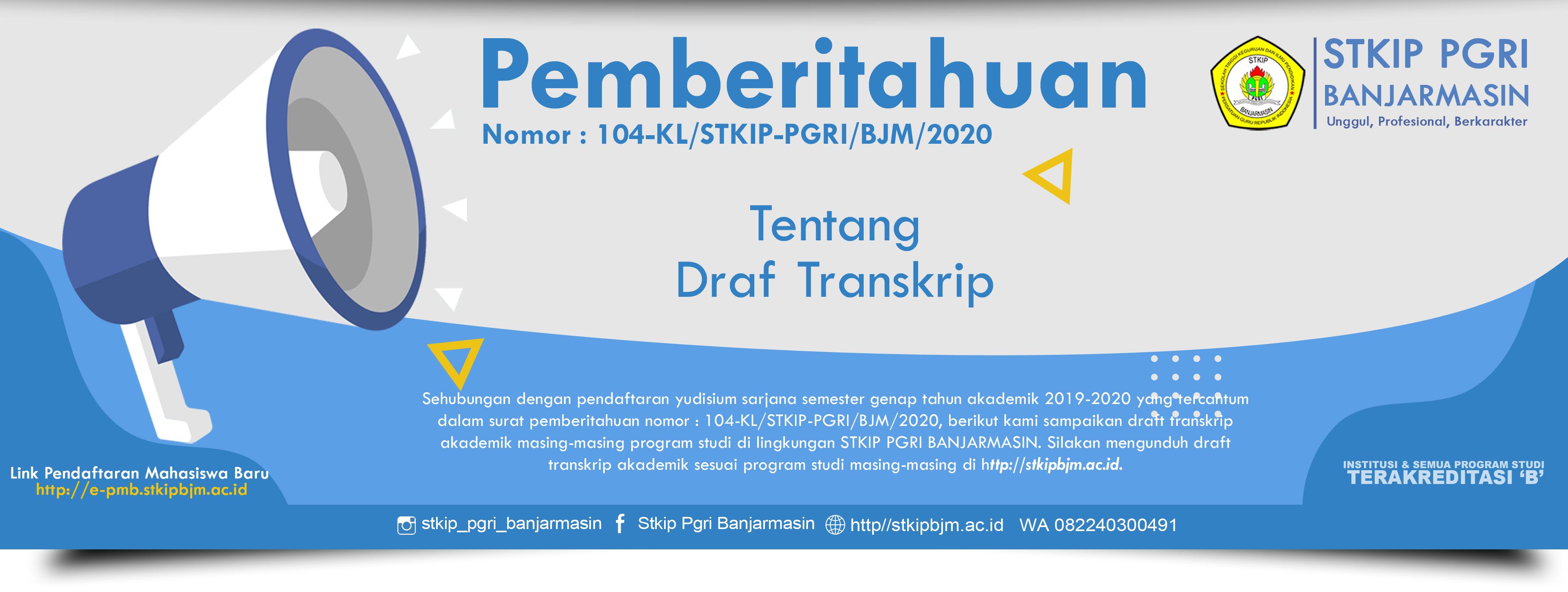 Draft transkrip akademik